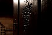 Drzwi do maleńkiej piwniczki z winem. Okolice miasteczka Lendava, Podravje.