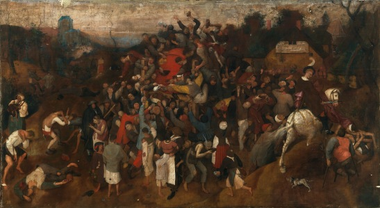 """Pieter Bruegel (starszy) - """"Wino w Dniu Świętego Marcina"""""""