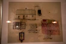 Szkic i plan pierwszej winnicy i domu